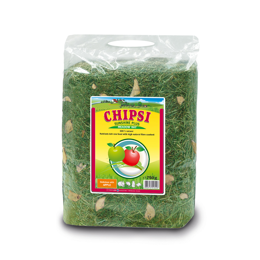 Cỏ dinh dưỡng cho thú nhỏ Chipsi Sunshine Plus Meadow Hay With Apple