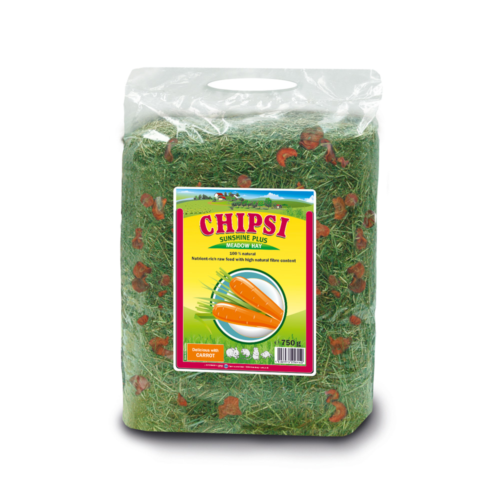 Cỏ dinh dưỡng cho thú nhỏ Chipsi Sunshine Plus Meadow Hay With Carrot